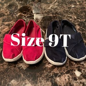 9t toms in red & navy